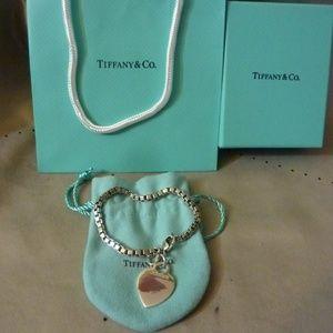 "Tiffany Venetian & Tag Bracelet Mint 7 1/2"" long"
